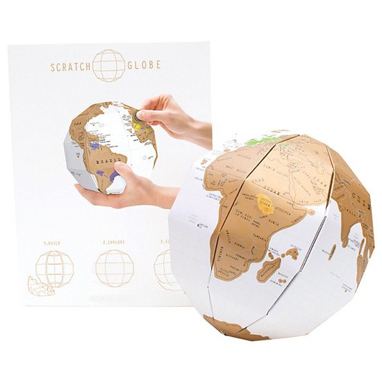 Luckies Scratch Globe Personalised 3D Map