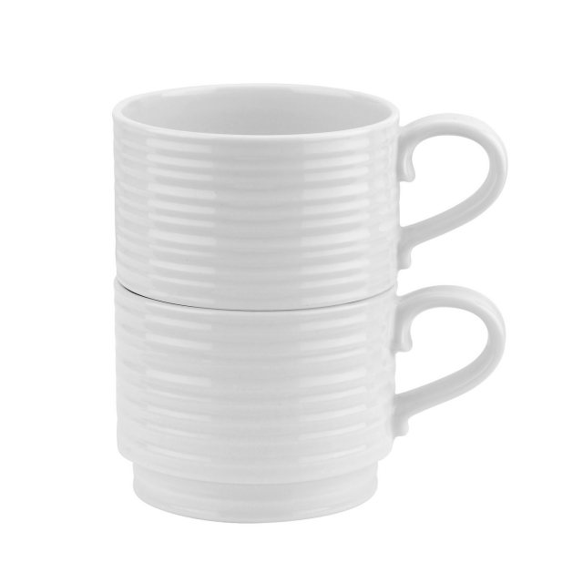 Portmeirion Sophie Conran for Portmeirion Stackable Cups Set Of 2