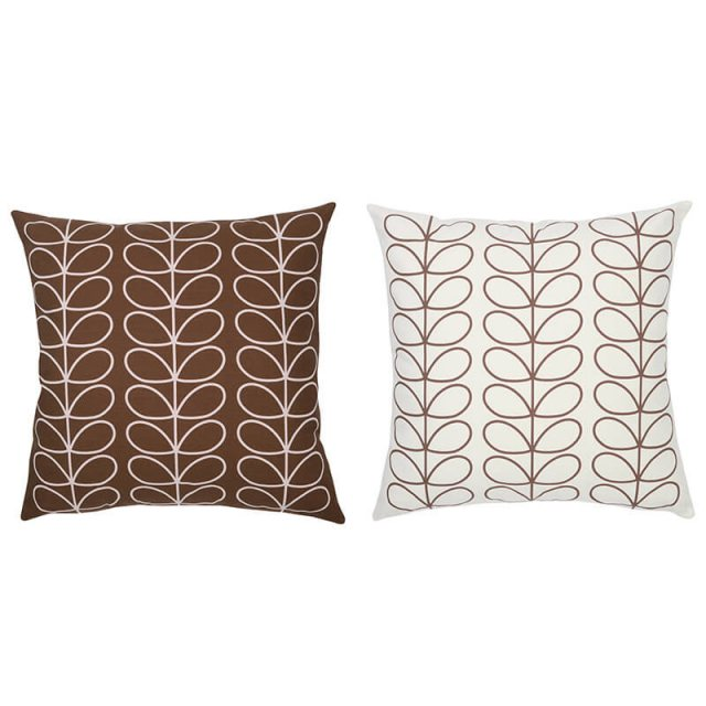 Orla Kiely Orla Kiely Cushion Large Linear Stem Chocolate