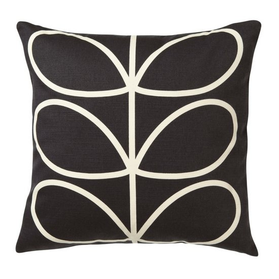 Orla Kiely Orla Kiely Cushion Large Linear Stem Slate Blue