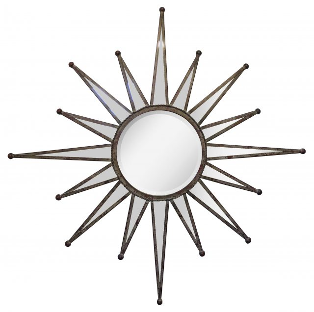 Large Metal Starburst Mirror