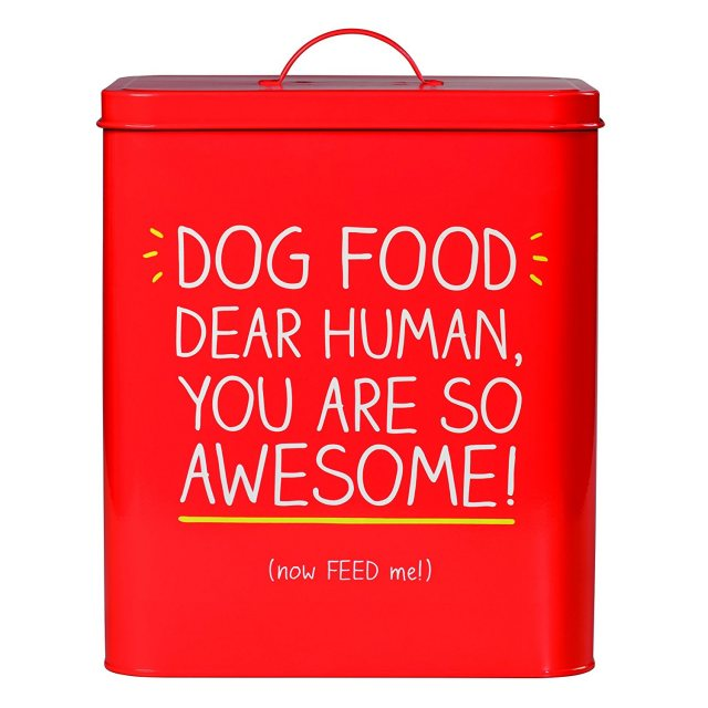 Happy Jackson 'Awesome' Large Dog Food Tin