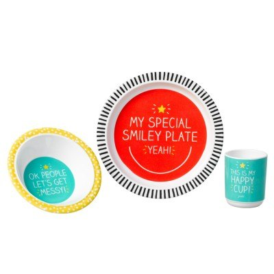 Happy Jackson 3PC Melamine Dinner Set