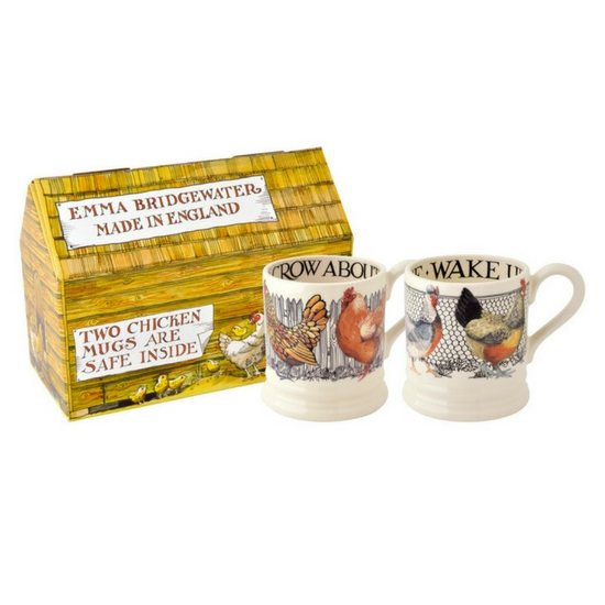 Emma Bridgewater Emma Bridgewater Hen & Toast Set of 2 1/2pt Mugs