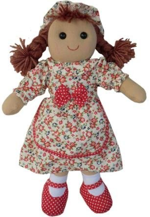 Powell Craft Rag Doll with Vintage Floral Dress 40cm