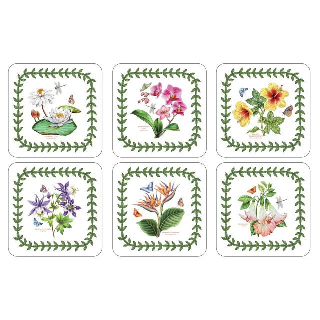 Portmeirion Botanic Garden Exotic Coasters Set of 6