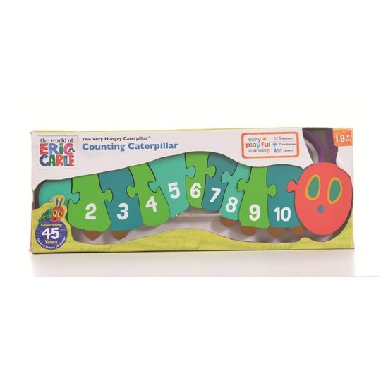 The Very Hungry Caterpillar The Very Hungry Caterpillar Shaped Wooden Counting