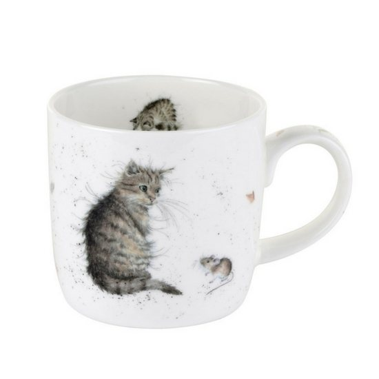 Portmeirion Royal Worcester Wrendale Cat and Mouse Fine Bone China Mug