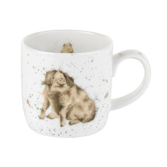 Portmeirion Truffles Pig China Mug
