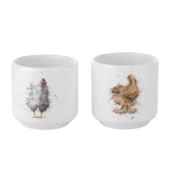 Portmeirion Royal Worcester Wrendale Set of Two Egg Cups