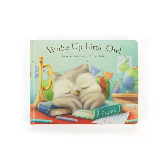 Jellycat Soft Toys Wake Up Little Owl Book