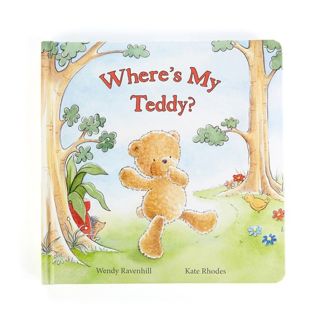 Jellycat Soft Toys Jellycat Wheres My Teddy Book
