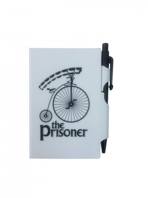 The Prisoner The Prisoner Retro Notepad & Pen White