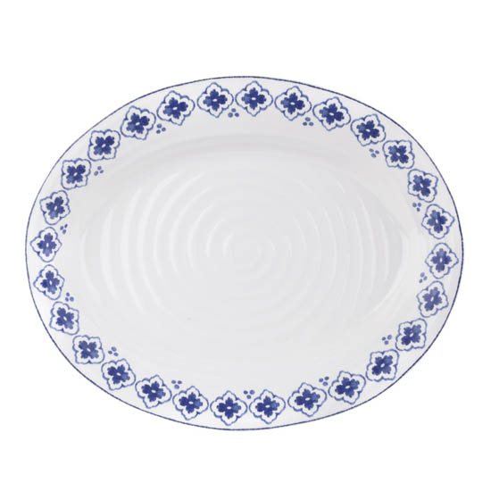 Portmeirion Sophie Conran Blue Medium Oval Platter Eliza