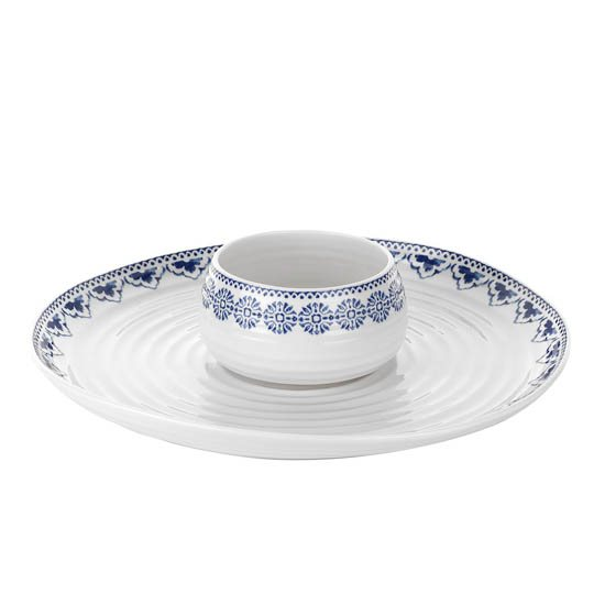 Portmeirion Sophie Conran Blue Dipping Dish & Platter