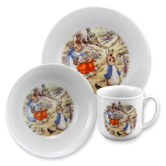 Peter Rabbit Beatrix Potter Peter Rabbit 3 Piece Eating Set