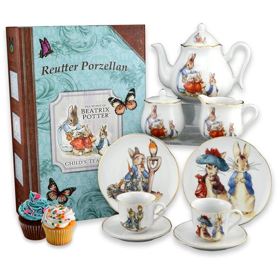 Peter Rabbit Beatrix Potter Peter Rabbit Teaset In Bookcase