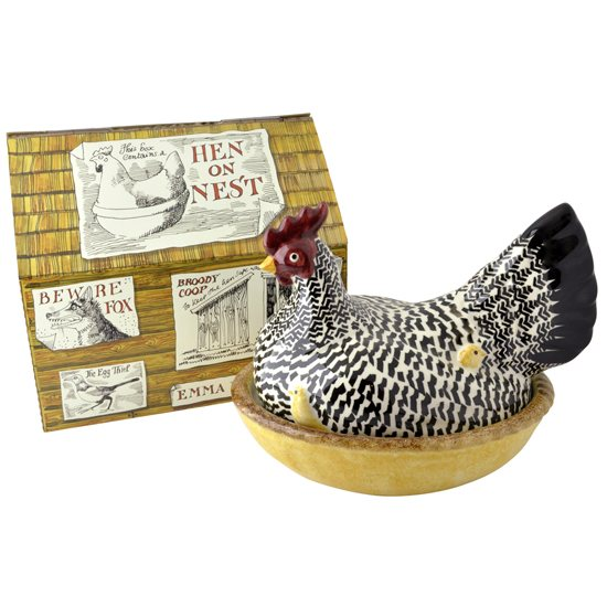 Emma Bridgewater Emma Bridgewater Silver Hen On Nest Boxed