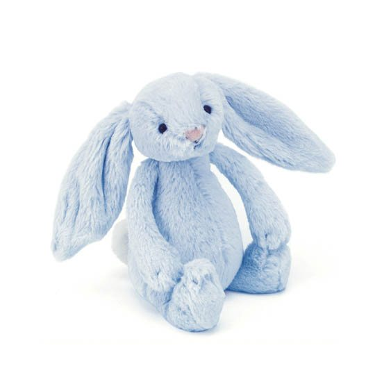 Jellycat Soft Toys Jellycat Bashful Blue Bunny Rattle