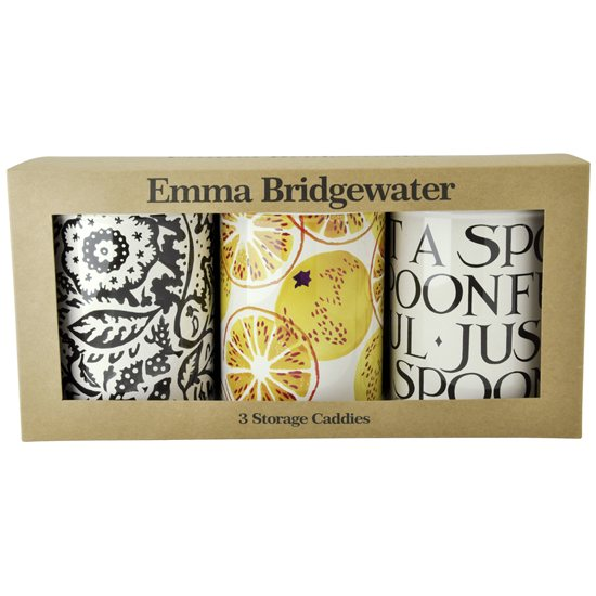 Emma Bridgewater Emma Bridgewater Black Toast Marmalade Set of 3 Caddies