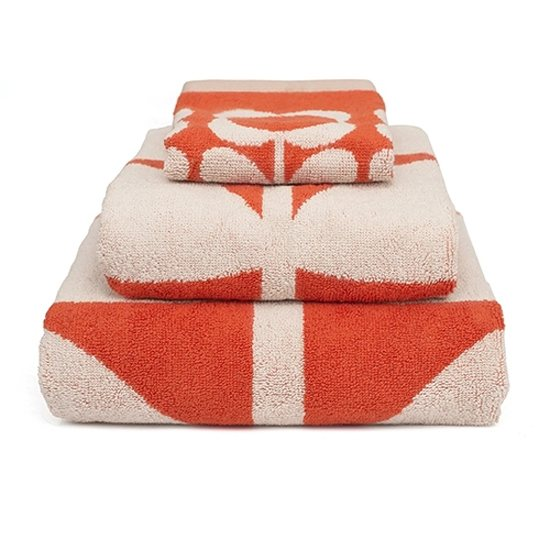 Orla Kiely Orla Kiely Kids Bath Towel Giant Flower Red