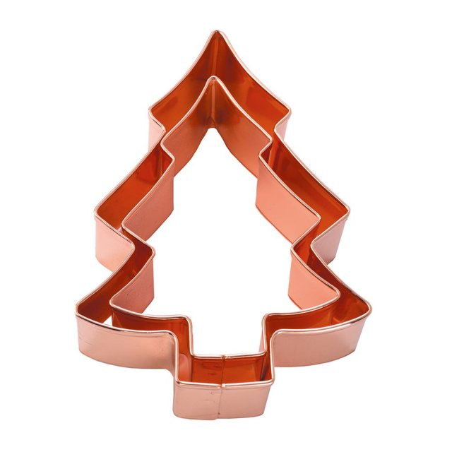 Copper Christmas Tree Pastry & Biscuit Cutters Set of 2