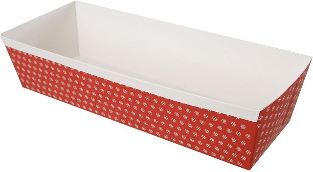 Christmas Paper Loaf Pan 2lb S/5