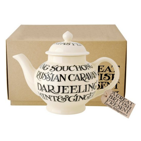 Emma Bridgewater Emma Bridgewater Black Toast All Over 4 Cup Teapot