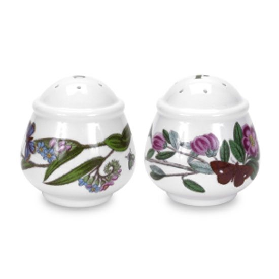 Portmeirion Botanic Garden Salt & Pepper Shakers - Romantic Shape