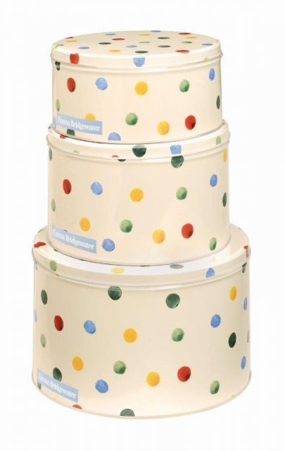 Emma Bridgewater Emma Bridgewater Round Polka Dot  Cake Tins Set of 3