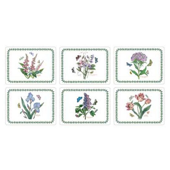Portmeirion Botanic Garden Set of 6 Rectangular Placemats