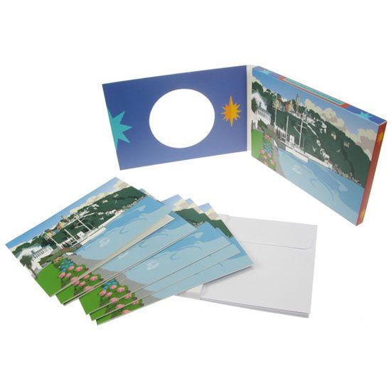 Portmeirion Cymru 6 Portmeirion Notecards & Envelopes: Skyline