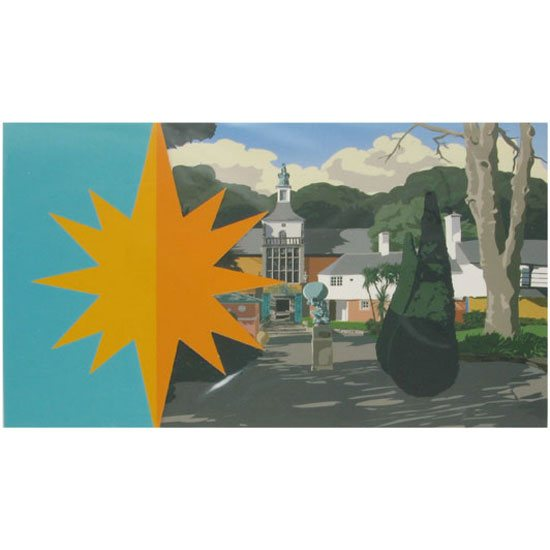 Portmeirion Cymru Portmeirion Greeting / Occasion Card & Envelope: Town Hall