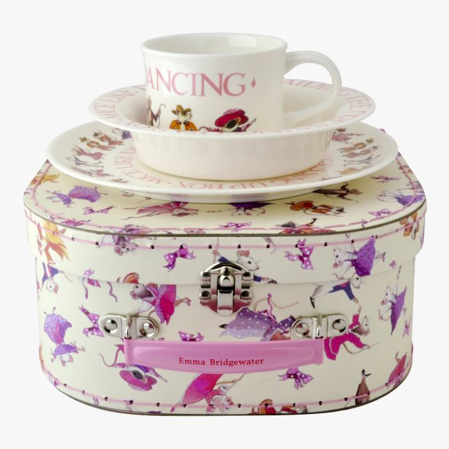 Emma Bridgewater Dancing Mice 3pc Melamine Set