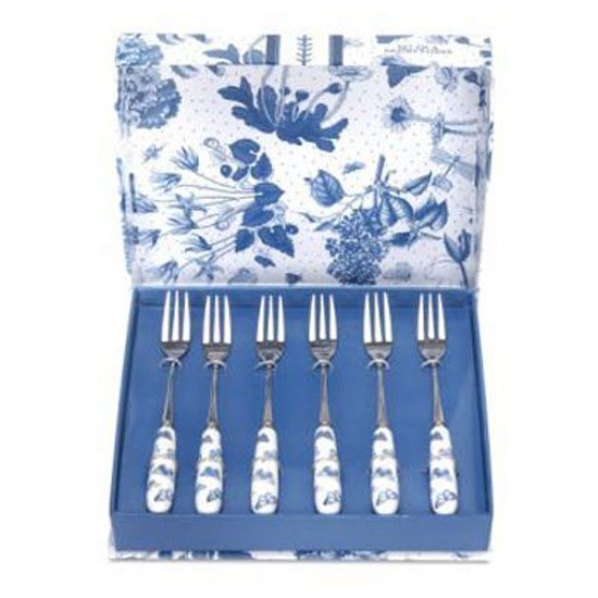 Portmeirion Botanic Blue Set of 6 Pastry Forks