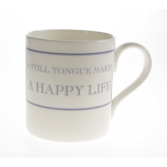 The Prisoner The Prisoner Fine Bone China Mug: A Still Tongue Makes a Happy Life