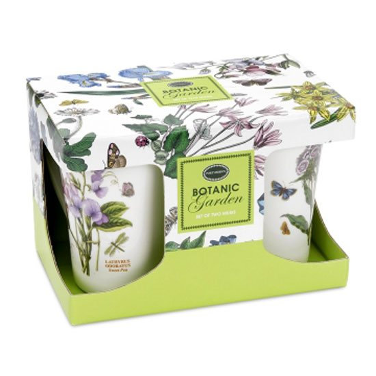 Portmeirion Botanic Garden Giftboxed Set of 2 Mandarin Mugs