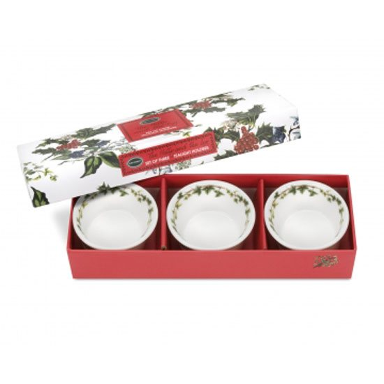 Portmeirion The Holly & The Ivy Tealight Holders (Set of 3)