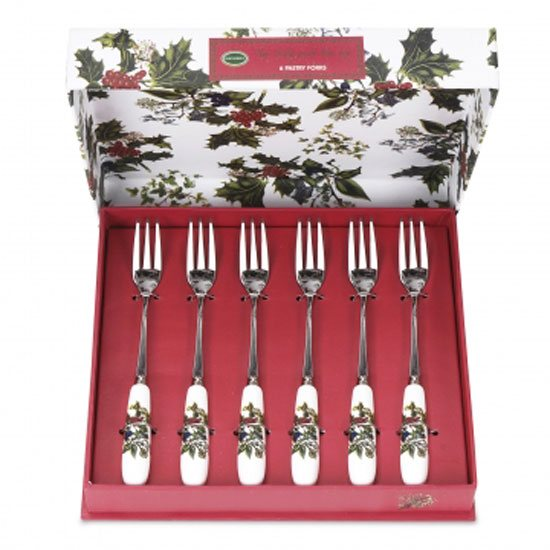 Portmeirion The Holly & The Ivy Pastry Forks (Set of 6)