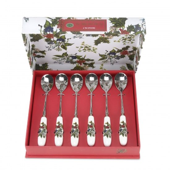Portmeirion The Holly & The Ivy Tea Spoons (Set of 6)