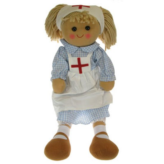 Powell Craft Large Nurse Rag Doll Soft Toy