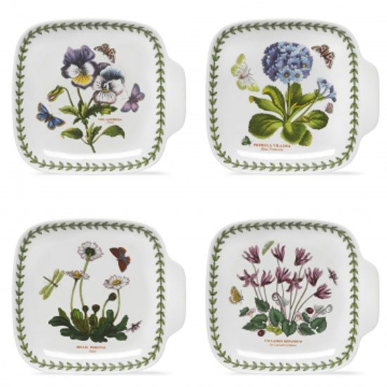 Portmeirion Botanic Garden Set of 4 Canape Dishes