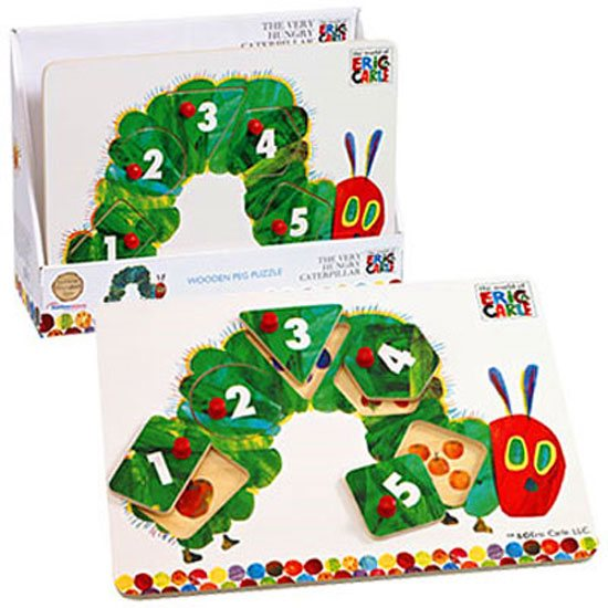 The Very Hungry Caterpillar The Very Hungry Caterpillar Peg Jigsaw Puzzle