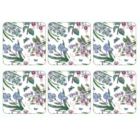 Portmeirion Pimpernel Botanic Garden Set of 6 Chintz Coasters