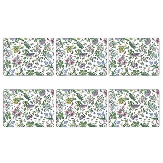 Portmeirion Pimpernel Botanic Garden Set of 6 Chintz Placemats