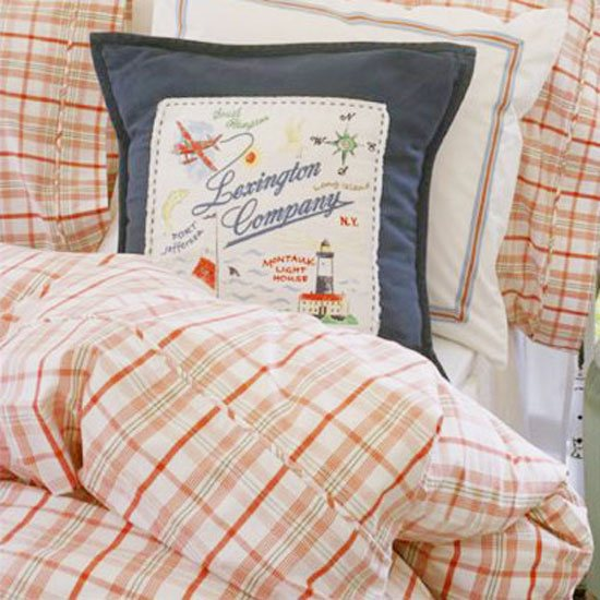 Lexington Lexington Seaside Summer Collection Single Bed Set: Red Check