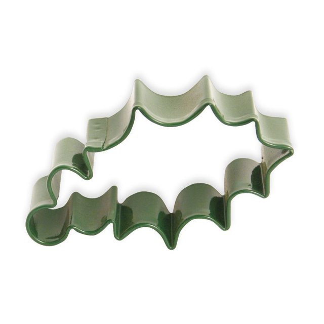 Green Holly Leaf Cutter - Christmas Pastry & Biscuit Cutter