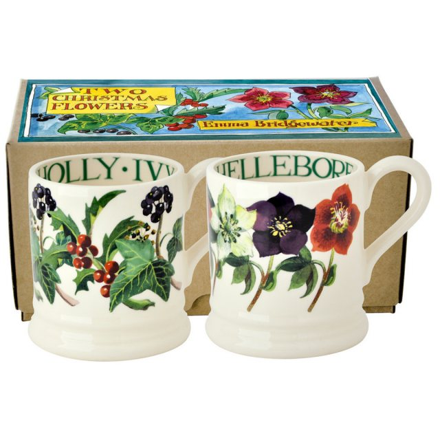 Emma Bridgewater 2 x 1/2 Pint Mugs Winter Flower Boxed