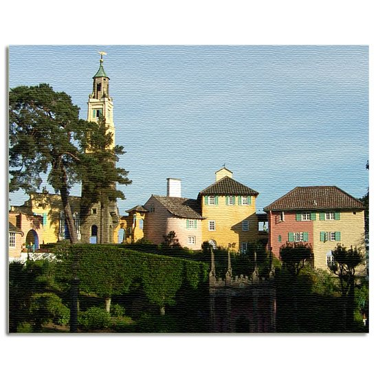 Portmeirion Cymru Portmeirion Bell Tower & Gloriette Canvas Art