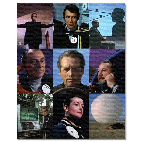The Prisoner The Prisoner Montage Canvas Art Print